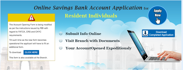 SBI Account Opening Form Online at onlinesbi.com