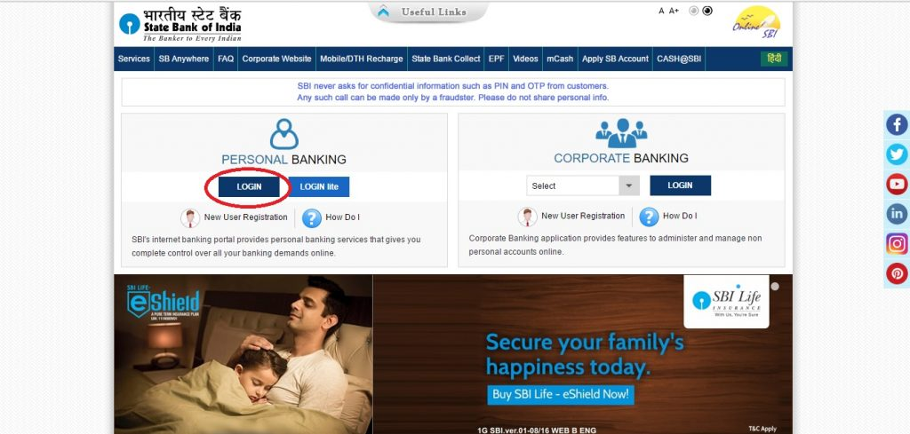 The online portal of State Bank of India (S.B.I) provides SBI personal banking services which provides you complete control over your bank account. There are two types of login portal for SBI personal banking.