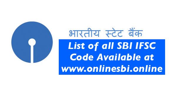 SBI IFSC Code List - OnlineSBI : SBI Net Banking Login