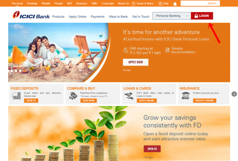 ICICI Bank Net Banking |Login & Reset