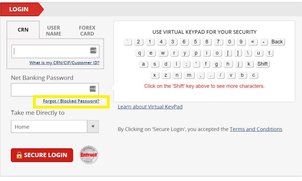 Regenerating Forgotten Kotak Mahindra Net Banking Password